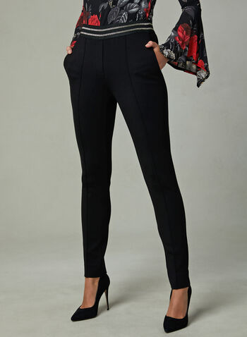 Slim Leg Pants, Black, hi-res
