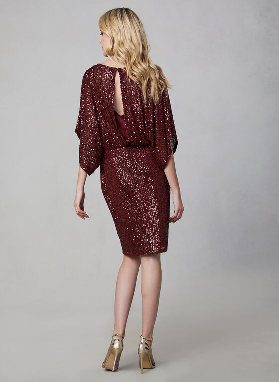 Marina - Robe blousante à sequins, Rouge