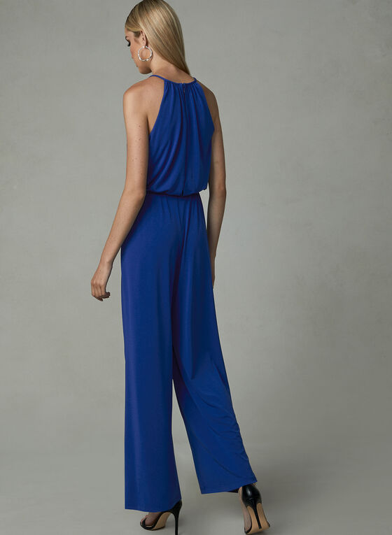 Maggy London - Jersey Jumpsuit, Blue, hi-res
