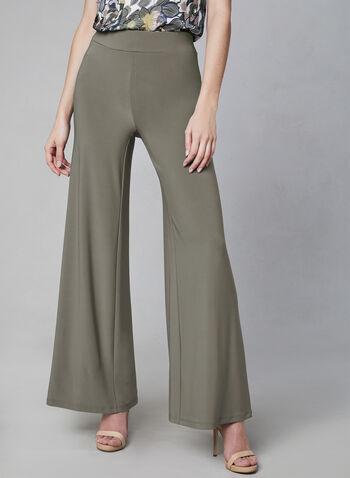 Wide Leg Pull-On Pants, Brown, hi-res,  Canada, wide leg, pants, pull-on, elastic waist, spring 2019