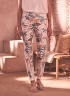 Floral Print Capri Pants, White