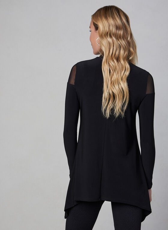 Illusion Cold Shoulder Top, Black