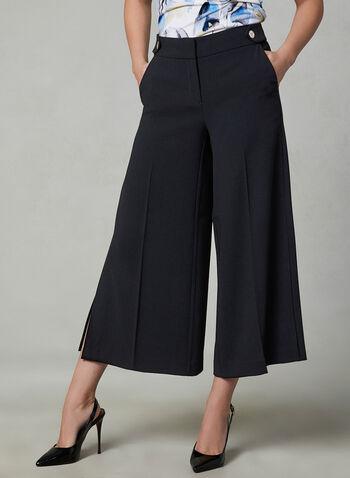 Jupe-culotte Soho à fentes, Noir, hi-res