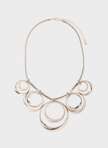 Collier à pendants anneaux ajourés, Or, hi-res