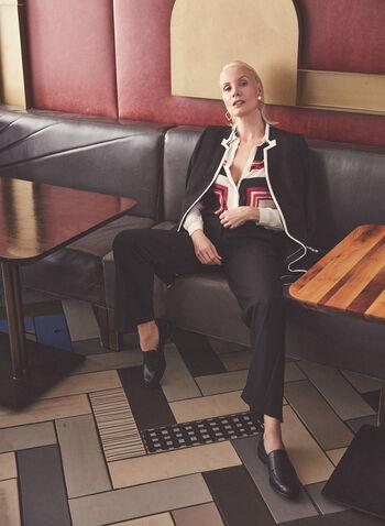 Pantalon Soho à détails boutons, Noir,  printemps été 2021, pantalon, jambe large, boutons, fausses poches