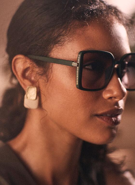 Oversized Square Sunglasses, Green