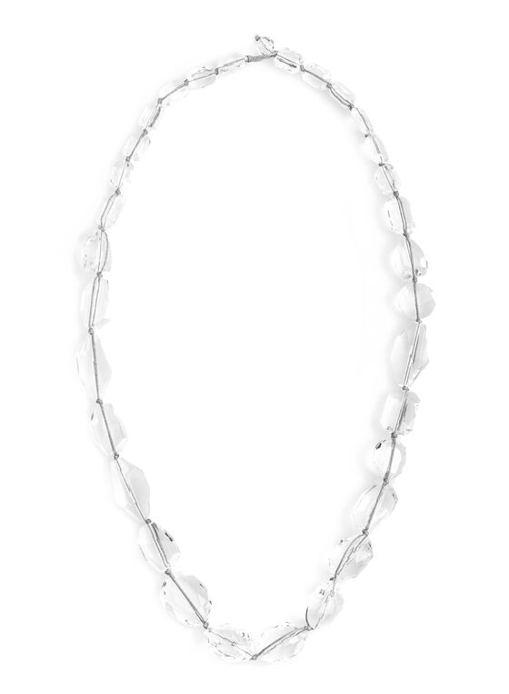 Transparent Bead Necklace, Multi, hi-res