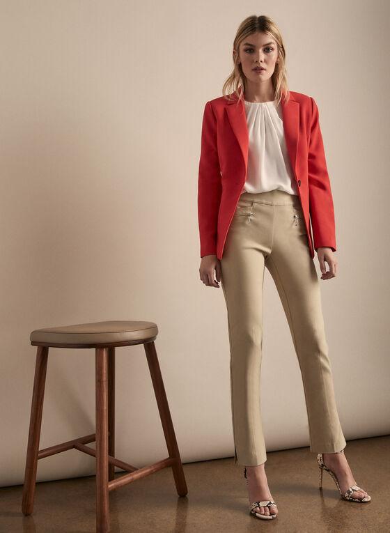 Solid blazer Jackets, Orange