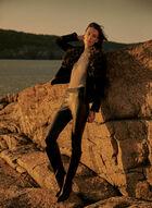 Joseph Ribkoff - Faux Fur Collar Jacket, Black