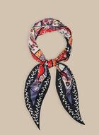 Foulard oblong léger à fleurs, Noir
