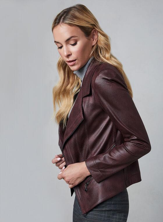 Vex - Faux Leather Jacket, Purple