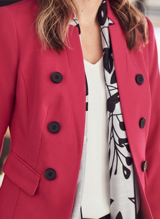 Reverse Notch Collar Redingote, Pink