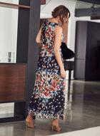 Donna Ricco - Robe sans manches à motif floral , Bleu