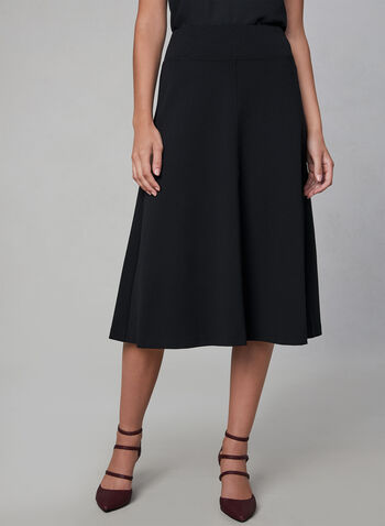 A-Line Maxi Skirt, Black, hi-res,  crepe, stretchy, pull-on, flared, fall 2019, winter 2019
