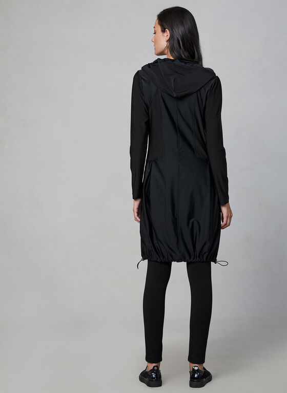 Compli K - Veste longue zippée en jersey, Noir