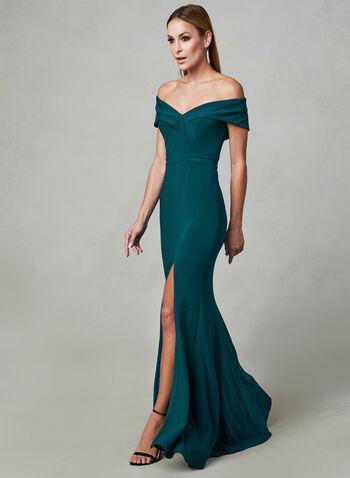 BA Nites - Off The Shoulder Dress, Green, hi-res