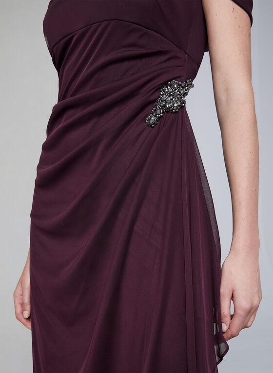 Alex Evenings - Draped Evening Dress, Red, hi-res