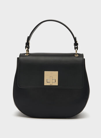 Céline Dion - Nappa Leather Handle Bag, Black, hi-res
