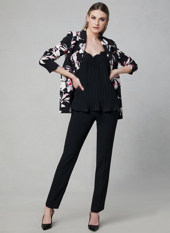 Elena Wang - Lace Detail Camisole, Black, hi-res