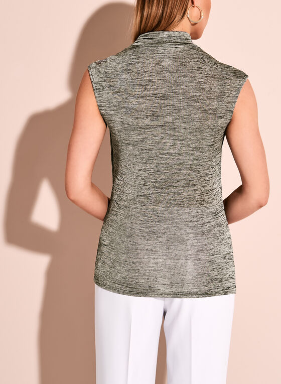 Sleeveless Cowl Neck Top, Grey, hi-res