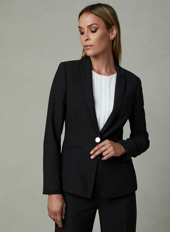 One Button Blazer, Black, hi-res