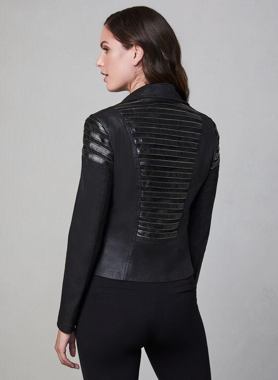 Frank Lyman - Veste en faux cuir et détails zippés, Noir, hi-res