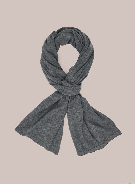 Wool Blend Lightweight Scarf, Grey