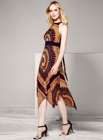Sandra Darren - Aztec Handkerchief Hem Dress, , hi-res