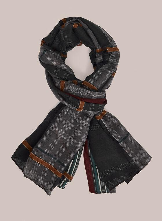 Foulard à carreaux et détail fantaisie, Noir