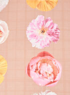 Floral Motif Lightweight Scarf, Brown