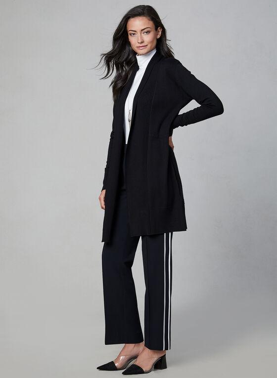 Pantalon pull-on à bandes contrastantes, Noir, hi-res