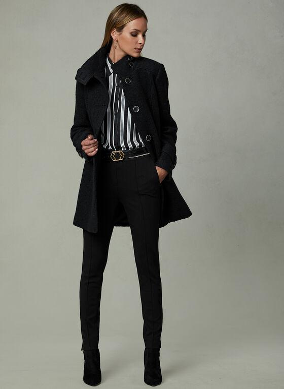 Manteau en mélange de laine bouclée, Noir, hi-res