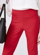 Pull-On Slim Leg Ankle Pants, Red, hi-res