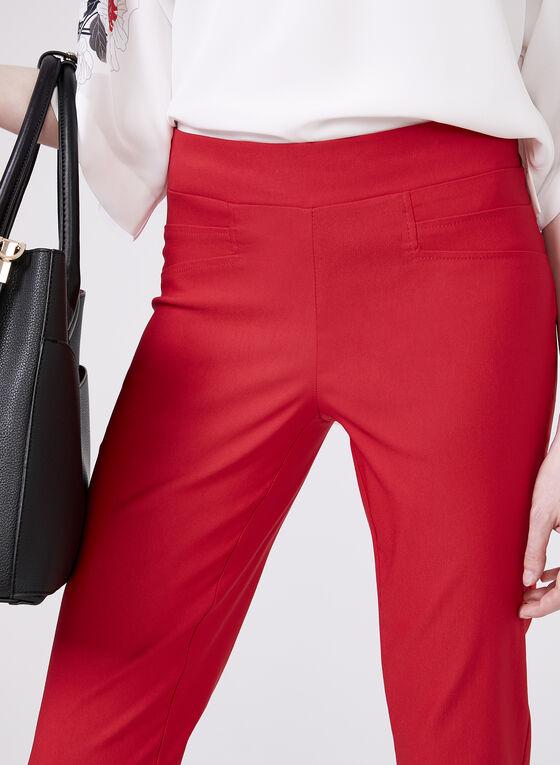 Pantalon pull-on cheville à jambe étroite, Rouge, hi-res