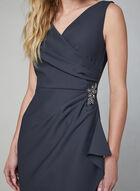 Alex Evenings - Crystal Embellished Sheath Dress, Grey, hi-res