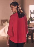 Joseph Ribkoff - Asymmetric Flutter Sleeve Blazer, Pink