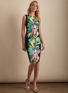 Frank Lyman - Floral Print Sheath Dress, Black