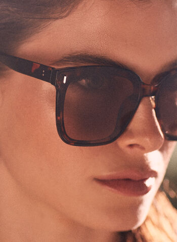 Oversized Tortoiseshell Sunglasses, Brown,  spring summer 2021, accessory, accessories, sunglasses, square, large, tortoiseshell, plastic