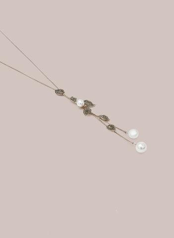 Collier bolo à feuilles et cristaux, Or,  automne hiver 2020, collier, bolo, feuilles, cristaux, bijou, accessoire