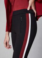 Striped Pull-On Pants, Black, hi-res