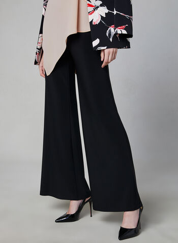 Wide Leg Pull-On Pants, Black, hi-res,  Canada, wide leg, pants, pull-on, elastic waist, spring 2019