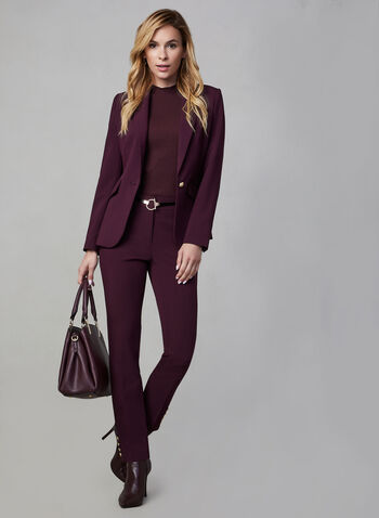 One Button Blazer, Purple, hi-res,  fall winter 2019, blazer, jacket, suiting, suit
