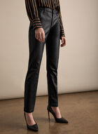 Slim Leg Faux Leather Pants, Black