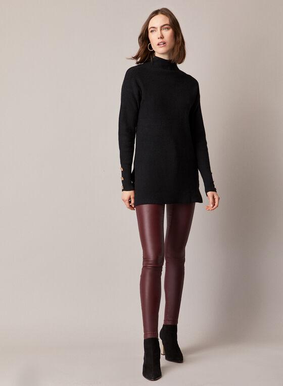 Coated Denim Slim Leg Jeans, Purple