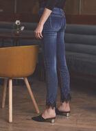 Embellished Slim Leg Jeans, Blue