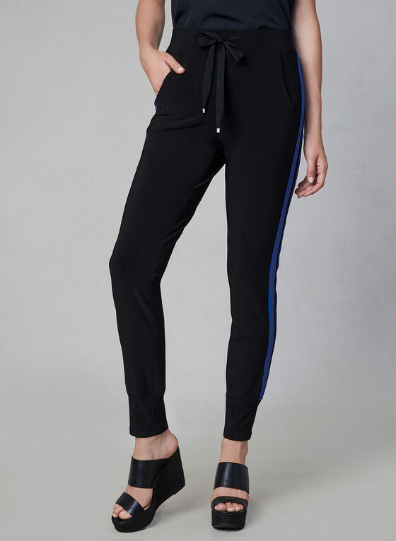Athletic Pull On Pants, Black, hi-res