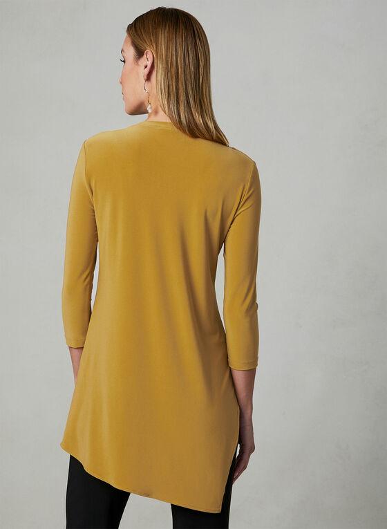 Joseph Ribkoff - Asymmetrical V-Neck Top, Gold, hi-res