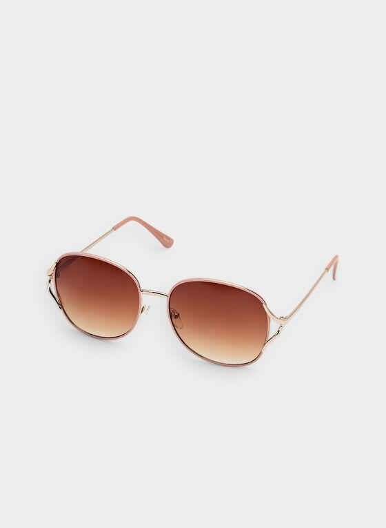 Round Sunglasses, Pink, hi-res