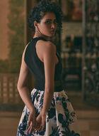 BA Nites - Halter Neck High Low Dress, Black