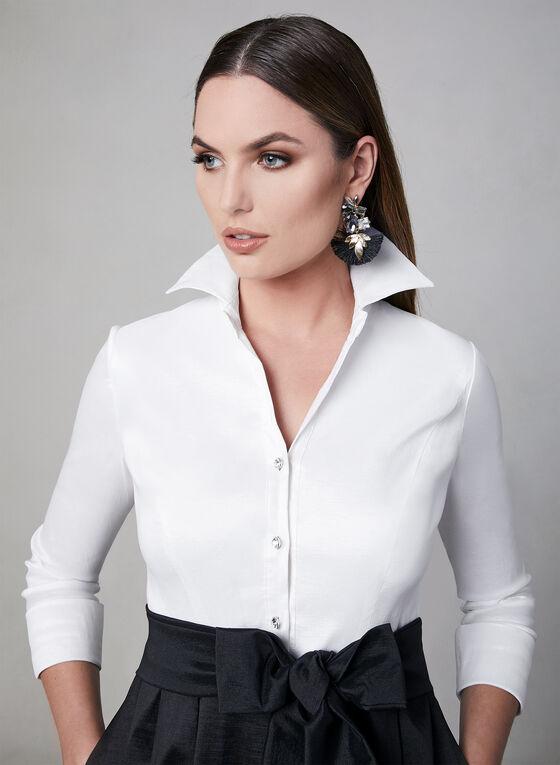 Emma Street - Robe chemisier en taffetas, Noir, hi-res